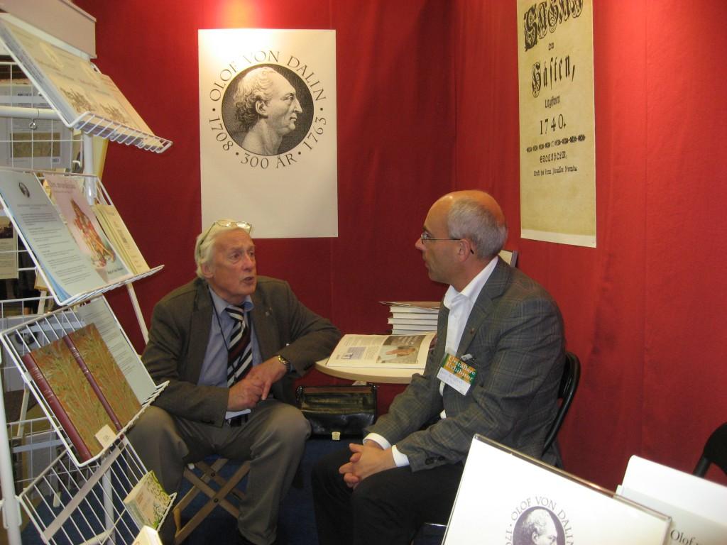 Ingemar Carlsson med nuvarande ordföranden Hans Bergfast