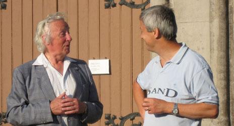 Ingemar Carlsson, v. ord. och Sten Göran Lundmark, Sällskapets förste ordförande